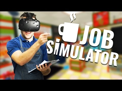 Job Simulator Gameplay - VR Convenience Store Clerk! - Let's Play Job Simulator VR HTC Vive
