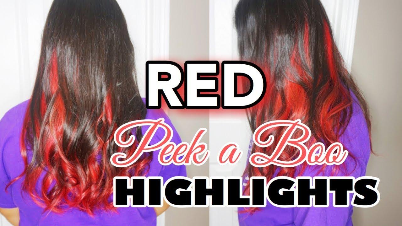 Magenta Red Peek A Boo Highlights Youtube
