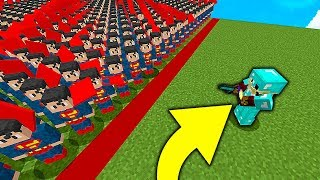 1 PRO vs SUPERMAN W MINECRAFT SYMULATOR WALK