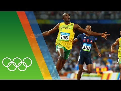 Usain Bolt at Beijing 2008   Epic Olympic Moments