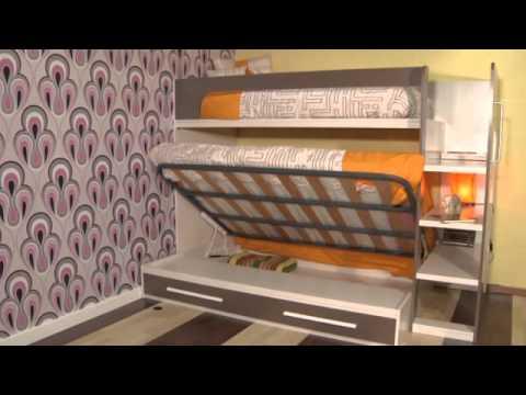 Cama de matrimonio litera 3 plazas originales y - Litera con cama de matrimonio ...