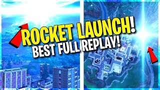 FORTNITE BEST ROCKET LAUNCH! *ALIENS* AND TIME TRAVEL? (Full and Live Replay)