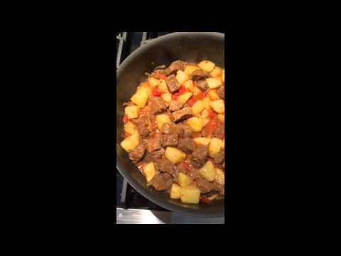 carne guisada con papas (mexican stewed beef and potatoes)