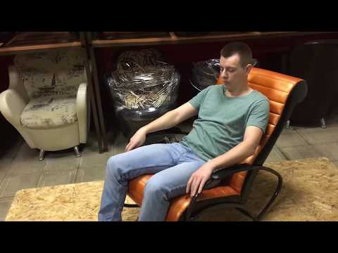 Кресло-качалка «Май», экокожа Nice 75 от компании ВолгаСтиль