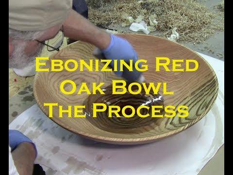 SECRET Wood Finishing Tip / How I Ebonized  -  the $25,500 Monster Red Oak Super Bowl - Ebonizing
