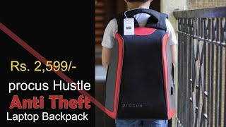 Procus Hustle review - The Anti Theft Smart Laptop Backpack for Rs. 2,599