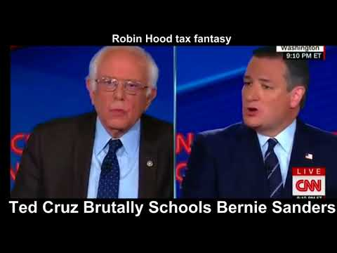 Ted Cruz DESTROYS Bernie Sanders