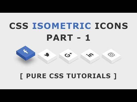 CSS Isometric Social Media Icons - CSS3 Icon Hover Effects - Html Css 3D Icon Hover Effects - Part 1