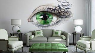 Дизайн Стен в Гостиной.  Оригинальные Идеи
