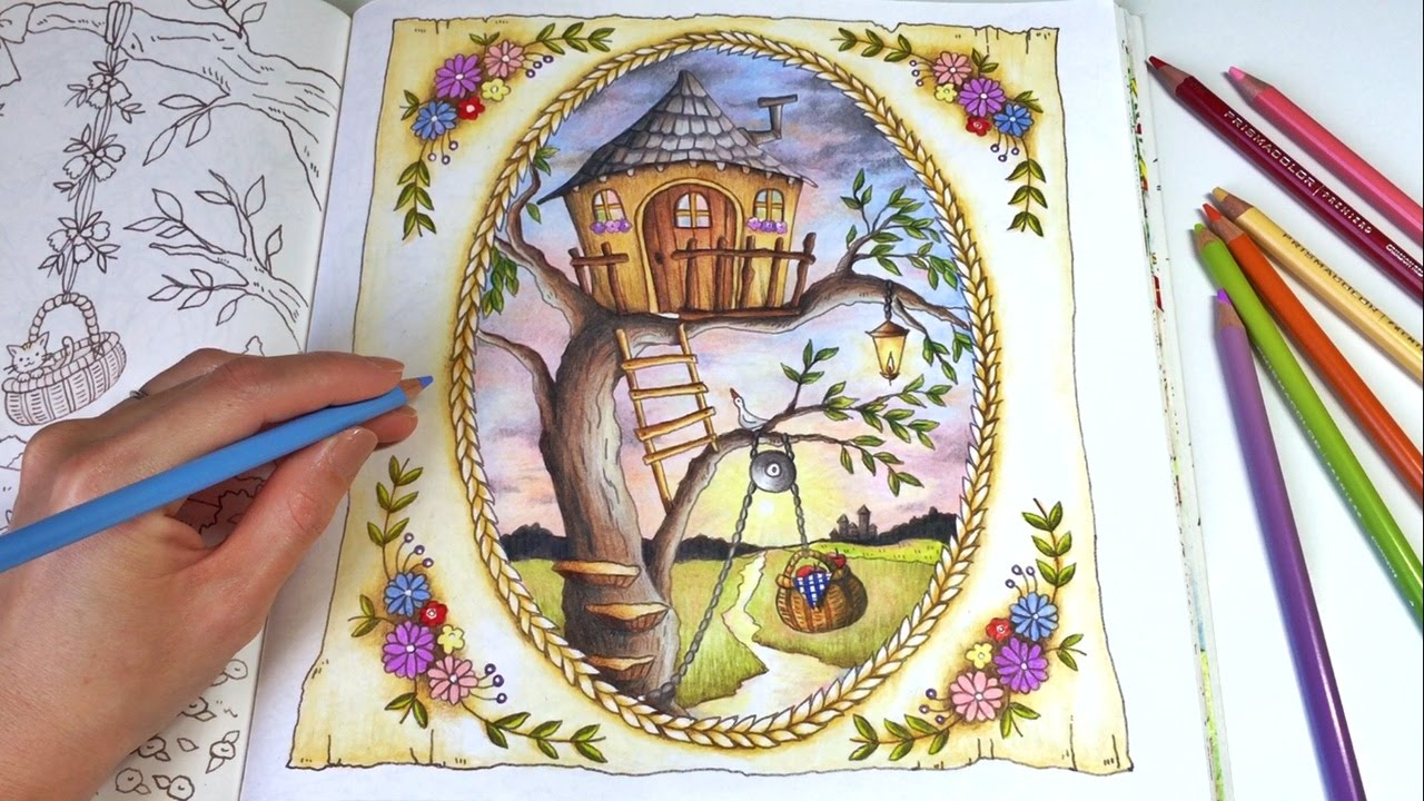 The Treehouse ROMANTIC COUNTRY A Fantasy Coloring Book