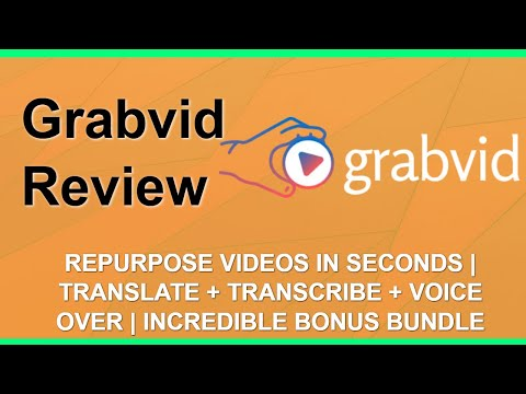 Grabvid Review | Repurpose Videos | Amazing YouTube Bonuses thumbnail