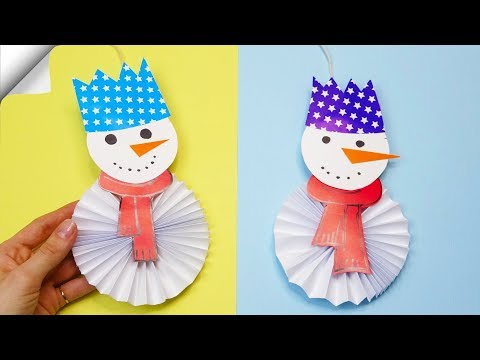 DIY paper crafts for kids Paper toys  christmas craft snowman