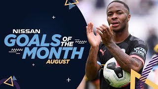 AUGUST GOALS OF THE MONTH 19/20 | Sterling, Braaf, Aguero & De Bruyne