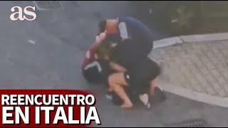 El vídeo que ha hecho llorar a media Italia el reencuentro tras 40 días ingresado luchando contr