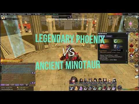 Atlantica Online - Legendary Phoenix VS Ancient Minotaur