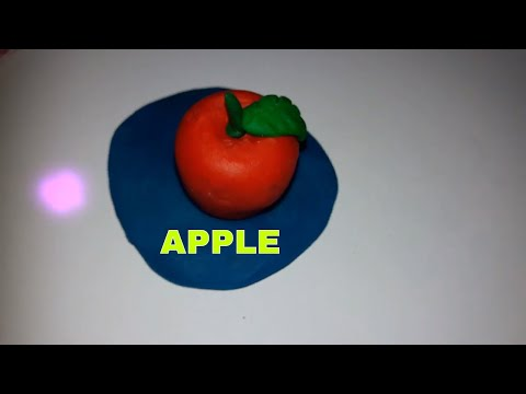 HOW TO MAKE A APPLE WITH CLAY FOR COMPETITION IDEA