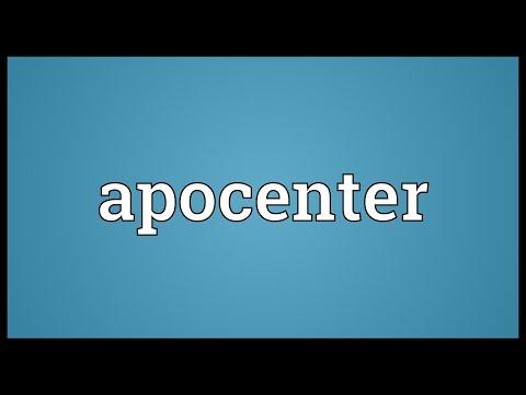 Header of apocenter