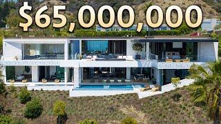 Inside a $65,000,000 Beverly Hills Ultra Modern MEGA MANSION
