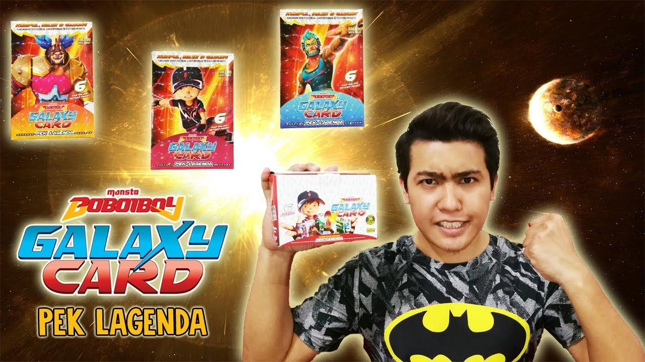 Pek Lagenda Official Boboiboy Galaxy Card From Monsta Youtube