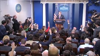 Web Extra: Gronk Crashes Sean Spicer's White House Press Conference