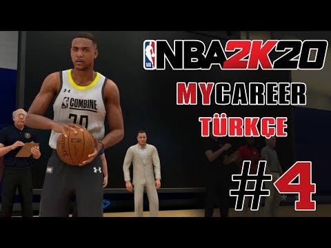 NBA DRAFT'İ İÇİN SEÇMELER BAŞLIYOR !!! - NBA 2K20 MyCareer Türkçe - Bölüm 4