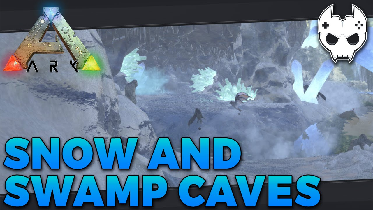 ARK: Survival Evolved - SNOW CAVE + SWAMP CAVE LOCATION - S3E47 - Let's  Play Gameplay