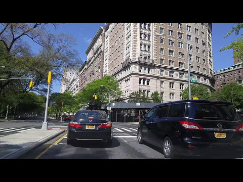 Driving from Upper West Side to Morningside Heights in Manhattan,New York