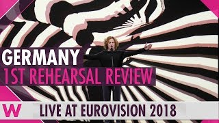 """Germany First Rehearsal: Michael Schulte """"You Let Me Walk Alone"""" @ Eurovision 2018 (Review)"""