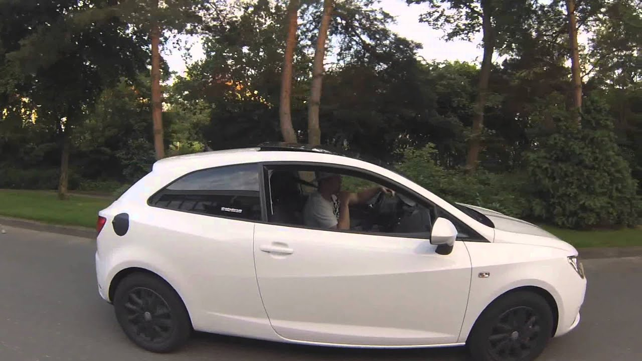 seat ibiza sc 6j 2013 white black youtube. Black Bedroom Furniture Sets. Home Design Ideas
