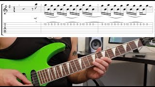 How to play 'Wasted Years' by Iron Maiden Guitar Solo Lesson w/tabs