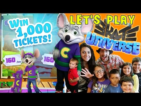 Win 1,000 Tickets FREE! Lets Play Chuck E. Cheese Skate Universe w/ Fan Meet & Greet!!