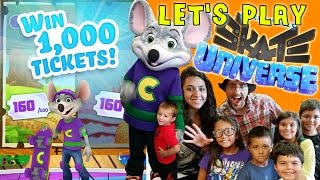 Win 1,000 Tickets FREE! Lets Play Chuck E. Cheese Skate Universe w/ Fan Meet & Greet!!(Mike, Lex & Dad play Chuck E. Cheese's Skate Universe App. You can win 1000 Tickets FREE redeemable at C.E.C.! Two Levels with 500 tix each. The game ..., 2014-08-06T19:15:20.000Z)