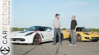 Corvette Grand Sport vs Lotus Evora 400: UK vs USA - Carfection