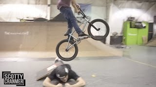 CRAZY BMX LONG JUMP! (HUMAN RAMP)