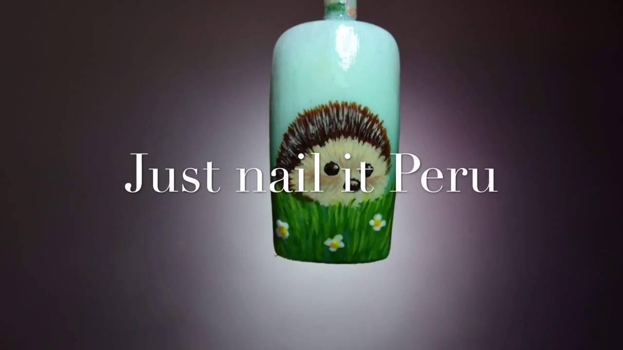 Nail Art Tutorial Hedgehog Youtube