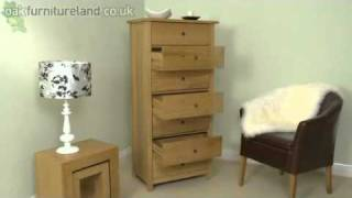 Cairo Solid Oak 7 Drawer Chest From Oak Furniture Land