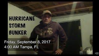 HURRICANE BUNKER Storm Shelter Hurricane Irma prep Tampa FL 9-8-2017