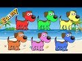 Learn Colors With Animals For Children - Learn Colors With Dogs – Dogs Cartoons For Children