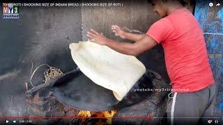 SHOCKING SIZE OF INDIAN BREAD | 70mm ROTI | SHOCKING SIZE OF ROTI  | MUMBAI STREET FOODS