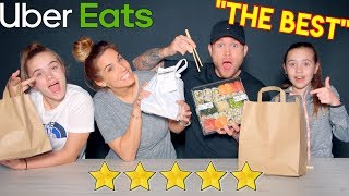 We ate from the BEST REVIEWED RESTAURANTS on UBER EATS