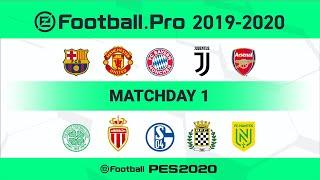 PES | FC Barcelona vs Juventus (Featured Match) | eFootball.Pro 2019-2020 #1 Full Match