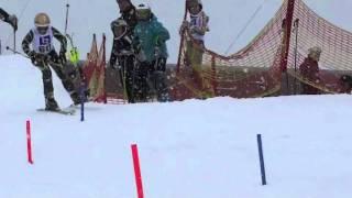 Lilla VC kvalet i Sundsvall och Slalom andra åket film 2 C åkare grabbar 2012-02-19