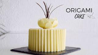 ТОРТ ОРИГАМИ ТРЕНД 2021 Интересная Техника для украшения Торта Рецепт ГАНАША ORIGAMI CAKE