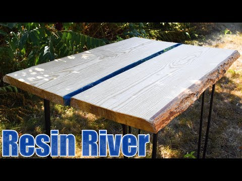 Woodworking and Resin - Resin River Slab Table