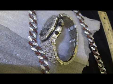 AP VVS Custom 360 Hand Set Royal Masterpiece Setting & Aries Cuban Link