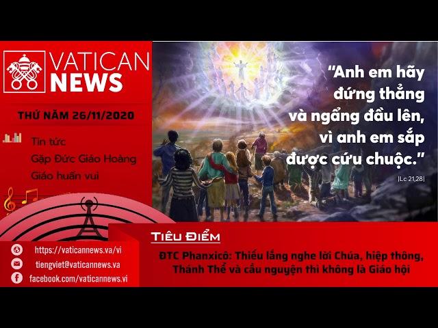 Radio: Vatican News Tiếng Việt thứ Năm 26.11.2020