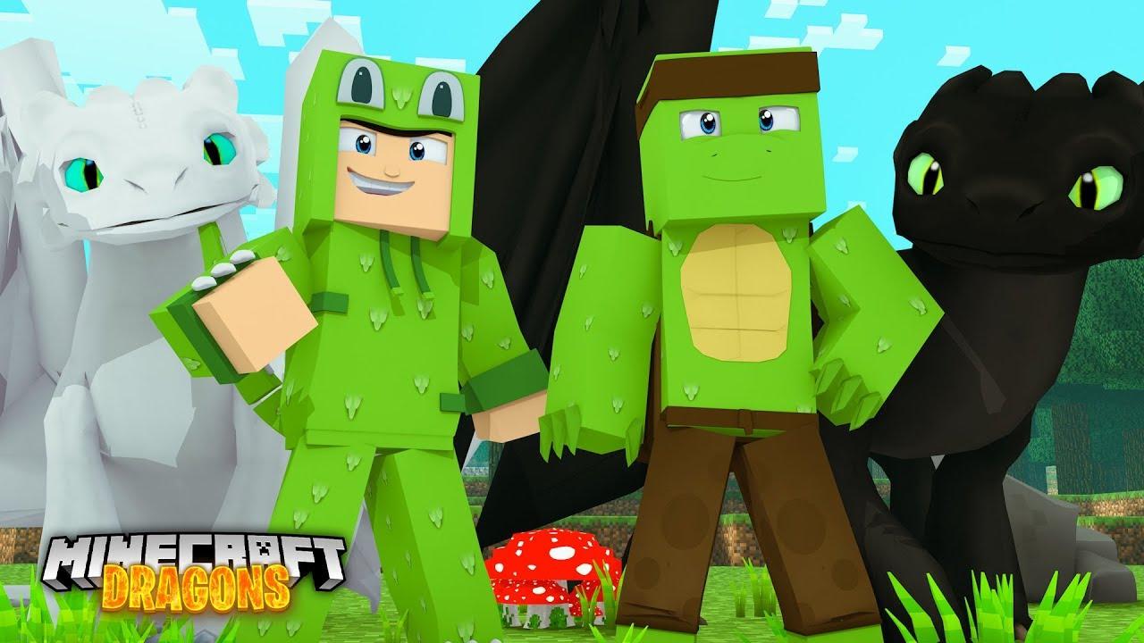 Joining TINY TURTLE'S DRAGON WORLD - Minecraft Dragons ...