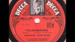 "Maurice Chevalier "" Folies-Bergère "" 1948"