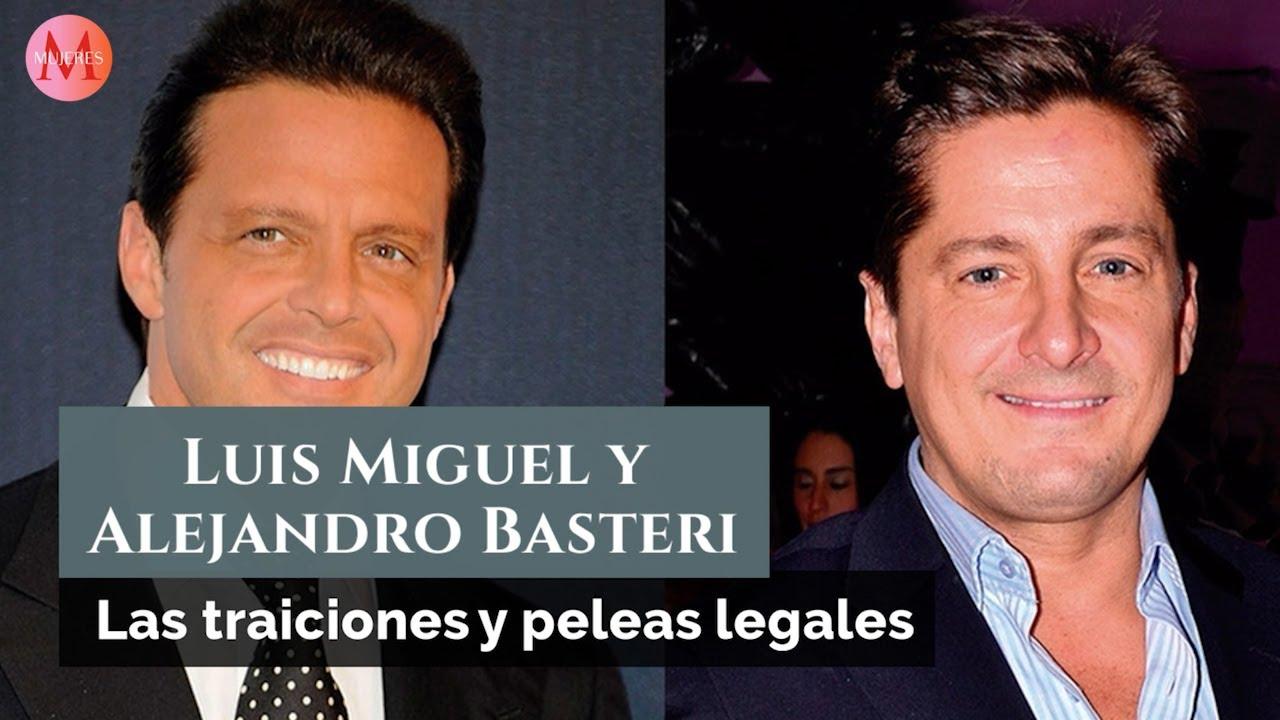 Las traiciones y peleas legales entre Luis Miguel y Alejandro Basteri