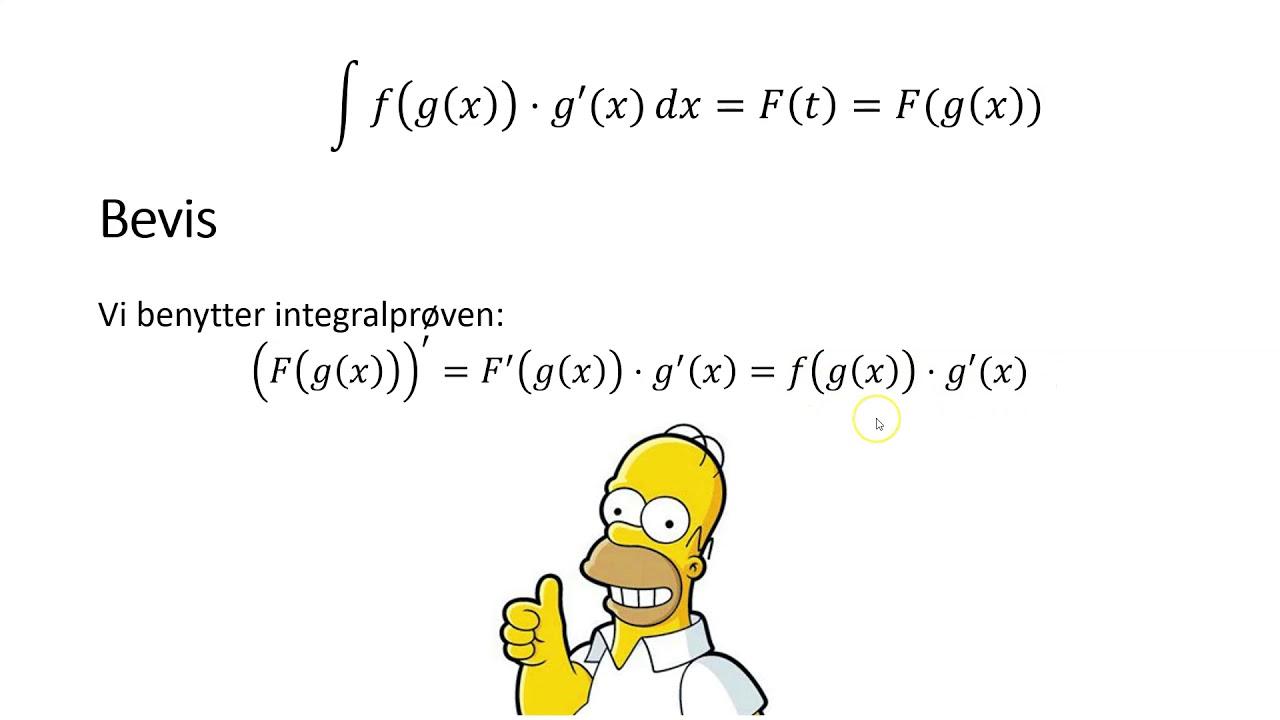 Integralregning 3b   integration ved substitution